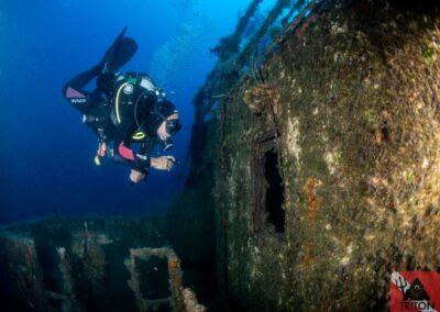 Christoforos Wreck, Alonissos, Alonnisos, Triton Dive Center, Scuba Diving